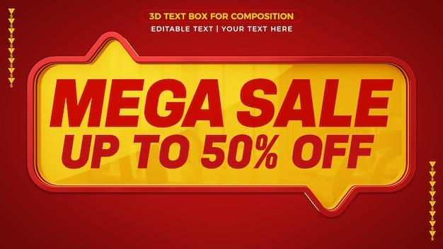 Mega sale bis zu 50 rabatt auf banner-design