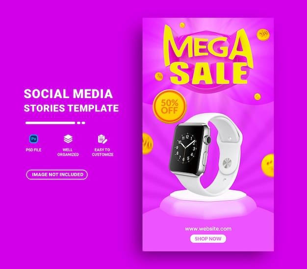 Mega sale instagram story vorlage