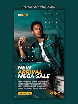 Mega sale social media banner post vorlage premium psd