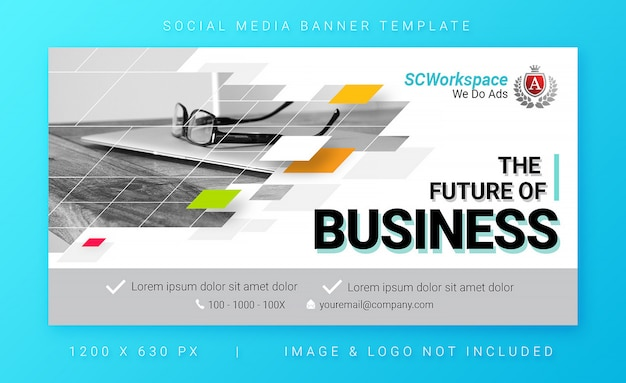 Mehrzweck corporate social media banner vorlage