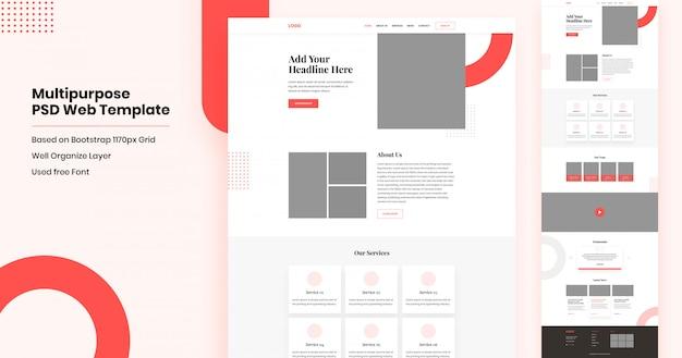 Mehrzweck-website-landingpage-design
