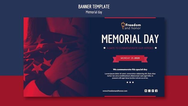 Memorial day banner konzept