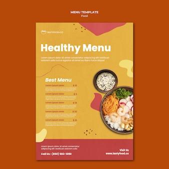 Menüvorlage für gesunde lebensmittel