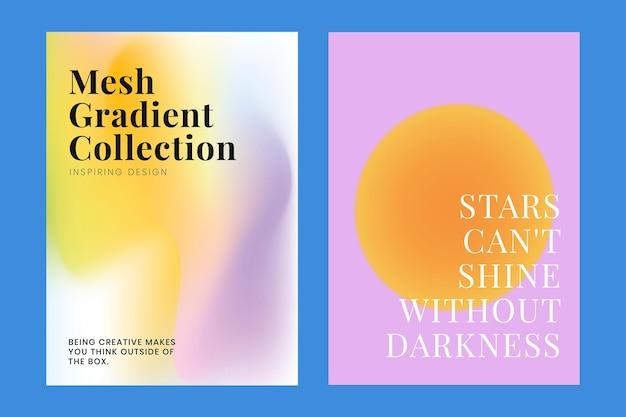 Mesh-farbverlauf-vorlagensammlung psd für poster