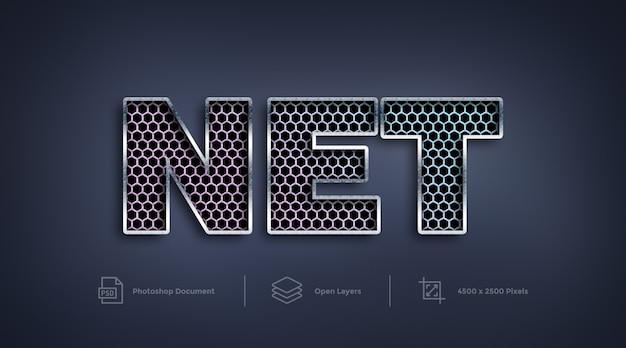 Mesh net text-effekt design photoshop-ebenenstil-effekt