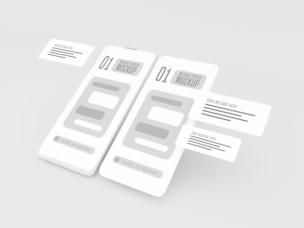 Messaging-gesprächskonzept auf dem handymodell