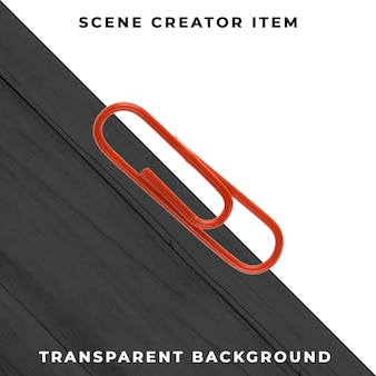 Metall büroklammer objekt transparent psd