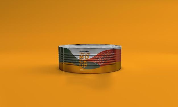 Metall lebensmittel zinn verpackung mockup design