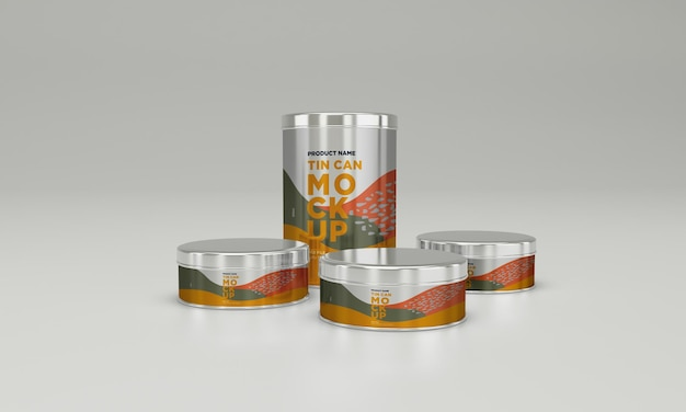 Metall-lebensmittel-zinn-verpackungs-modell