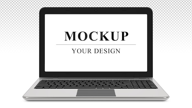 Metall notebook realistic laptop mockup isoliert