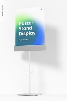 Metallic poster stand display mockup, vorderansicht
