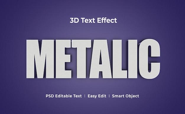 Metallische 3d-texteffekt-mockup-vorlage