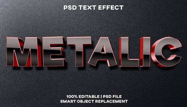 Metallischer texteffekt