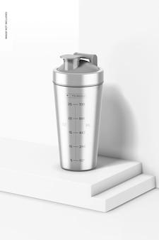 Metallisches shaker-flaschenmodell