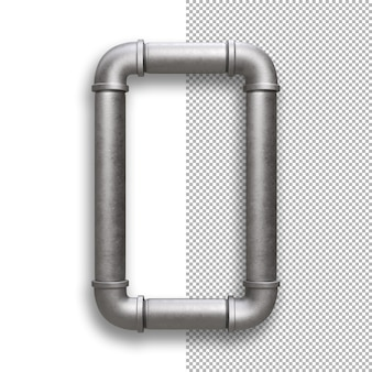 Metallpfeife, alphabet o.