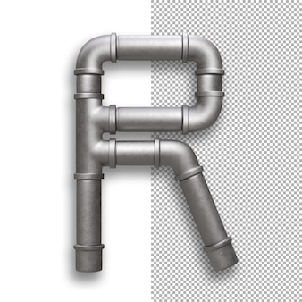 Metallpfeife, alphabet r.