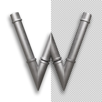 Metallpfeife, alphabet w.