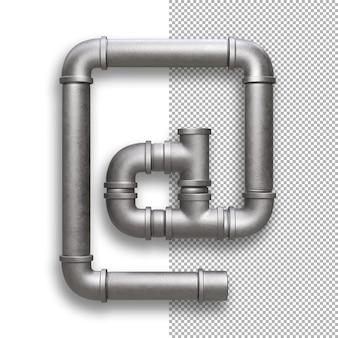Metallrohr, arroba-symbol