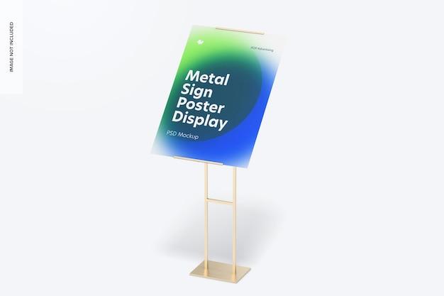Metallschild poster boden display mockup