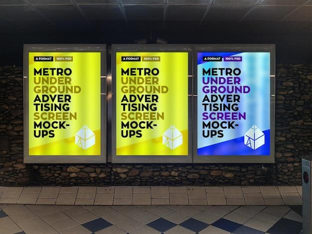 Metro underground werbung plakat modell