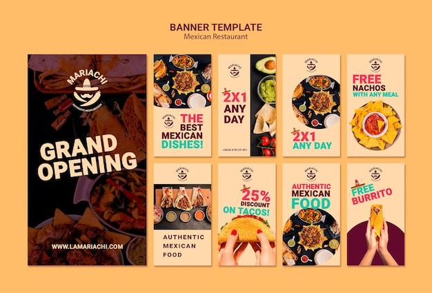 Mexikanische traditionelle gerichte restaurant instagram geschichten