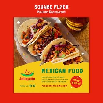 Mexikanischer restaurant flyer Premium PSD