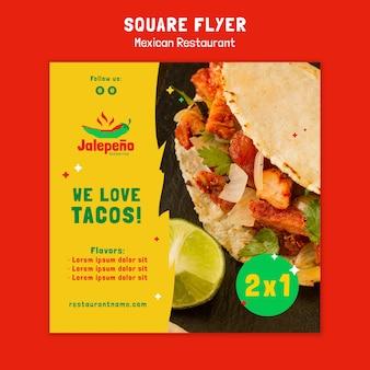 Mexikanischer restaurant flyer