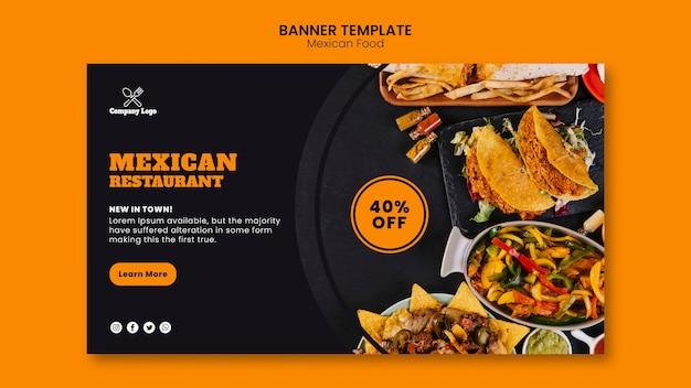 Mexikanisches essen banner vorlage