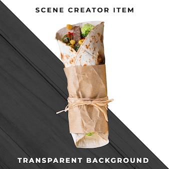 Mexikanisches essen transparent psd
