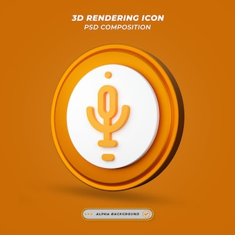 Mikrofonsymbol beim 3d-rendering