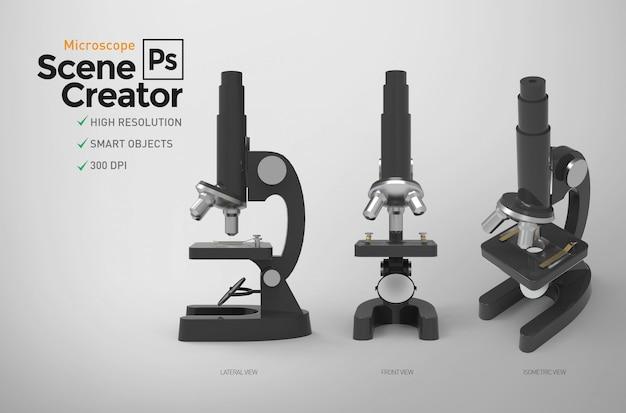 Mikroskop. szenenersteller. ressource.
