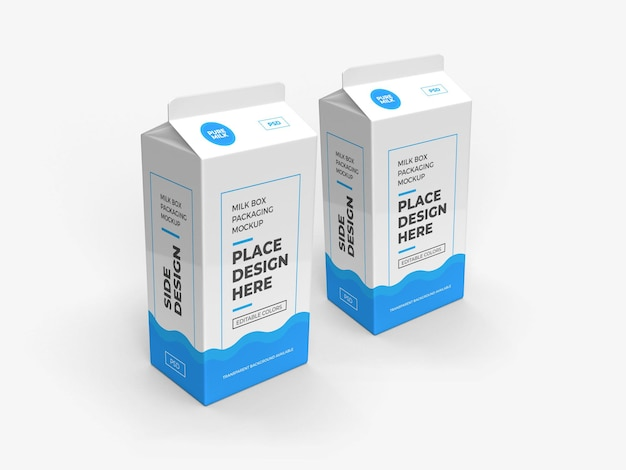 Milchbox und getränkeverpackungsmodell