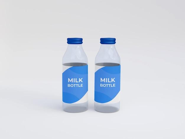 Milchflasche mockup premium psd