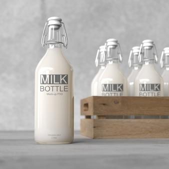 Milchflasche verspotten