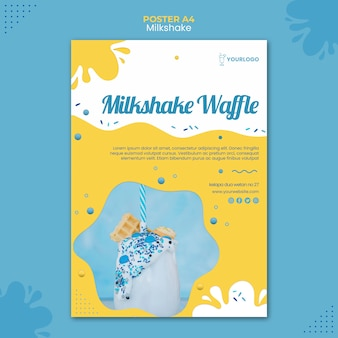 Milchshake-plakatschablone