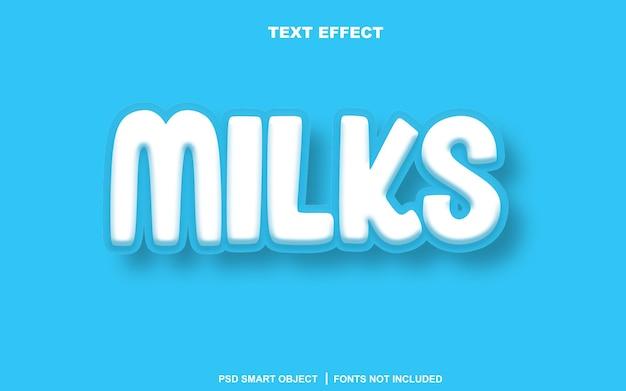 Milchtexteffekt. bearbeitbares text-smart-objekt