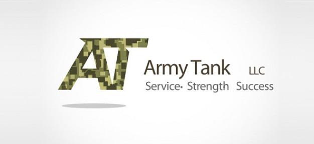 Militärischen logo-konzept