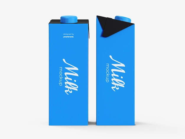 Milk box mockup template