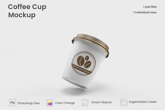 Mini-kaffeetassenmodelle premium psd