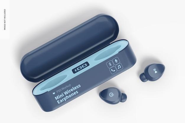 Mini-wireless-kopfhörer-modell, perspektive