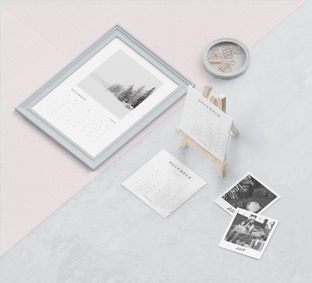 Miniatur und malerei kalenderkonzept
