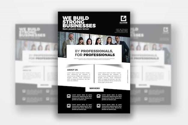 Minimal business flyer vorlage