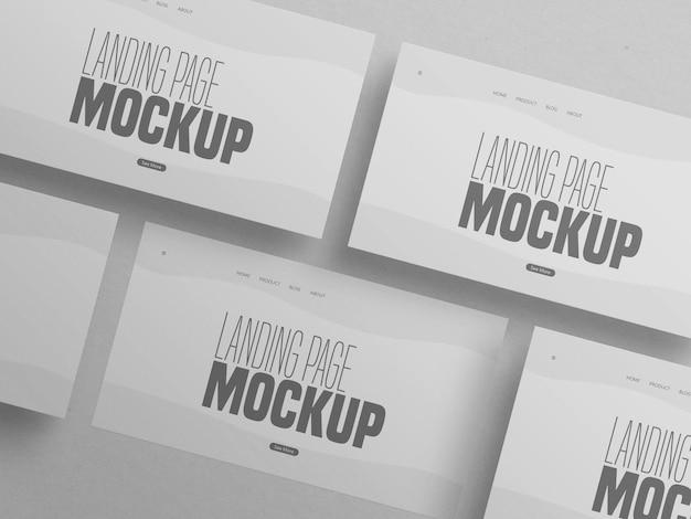 Minimal clean mockup für mehrere landing page-websites