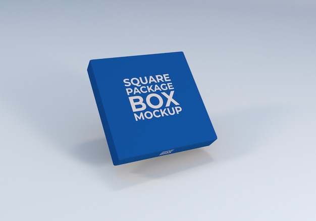Minimal square package box mockup