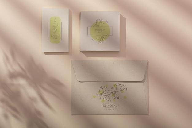 Minimale anordnung des briefpapiermodells