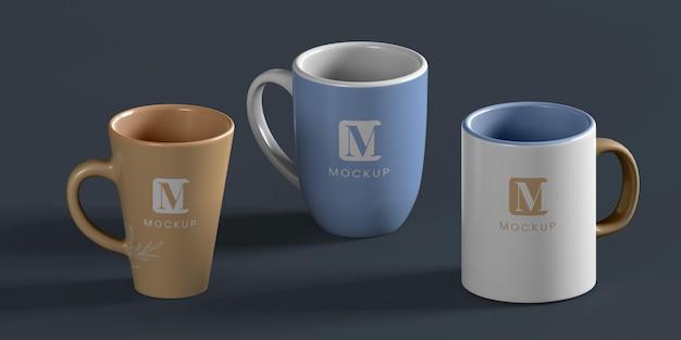 Minimale anordnung von kaffeetassen