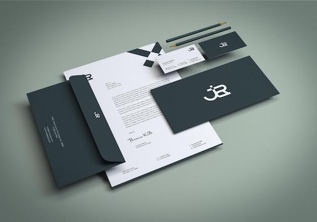 Minimale branding-briefpapier-mockup-designvorlage