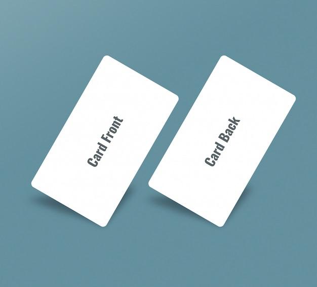 Minimale gerundete visitenkarte
