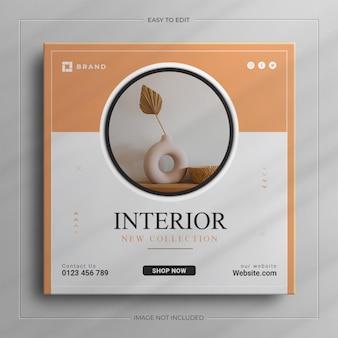 Minimale innenarchitektur-möbel-instagram-story-vorlage