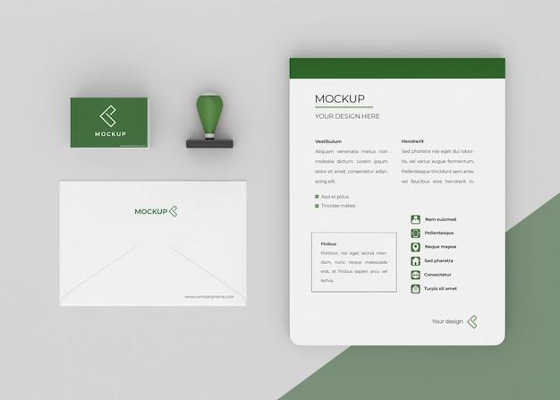 Minimale mock-up-briefpapierzusammensetzung